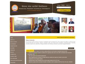 Himachal Pradesh Technical University's Website Screenshot