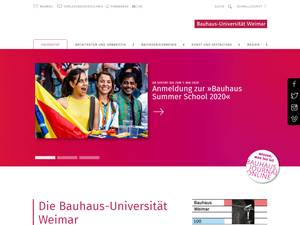 Bauhaus-Universität Weimar Screenshot