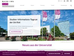 Christian-Albrechts-Universität zu Kiel's Website Screenshot