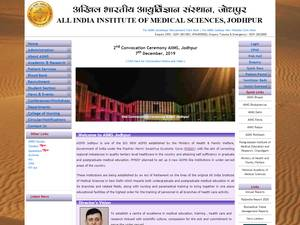 All India Institute of Medical Sciences Jodhpur Screenshot