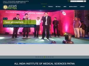 All India Institute of Medical Sciences Patna's Website Screenshot