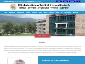 All India Institute of Medical Sciences Rishikesh's Website Screenshot
