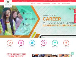 Arunachal University of Studies's Website Screenshot