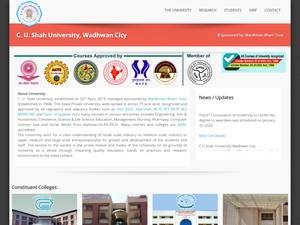 C.U. Shah University Screenshot