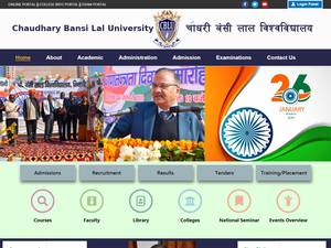 Chaudhary Bansi Lal University's Website Screenshot