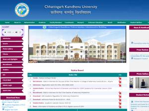 Chhattisgarh Kamdhenu Vishwavidyalaya's Website Screenshot