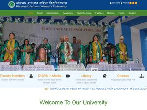 Diamond Harbour Women's University's Website Screenshot