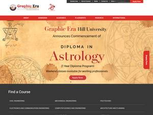 Graphic Era Hill University's Website Screenshot