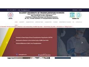 Gujarat University of Transplantation Sciences's Website Screenshot