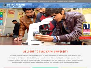 Guru Kashi University's Website Screenshot