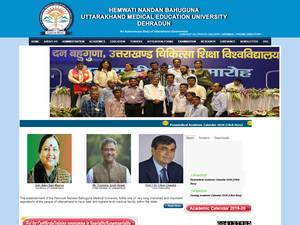 Hemwati Nandan Bahuguna Medical University's Website Screenshot
