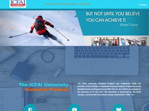 ICFAI University, Himachal Pradesh's Website Screenshot
