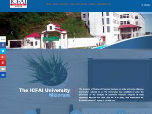 ICFAI University, Mizoram Screenshot