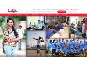 ICFAI University, Raipur's Website Screenshot