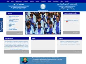 Indian Institute of Information Technology, Kalyani's Website Screenshot