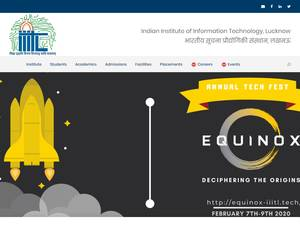Indian Institute of Information Technology, Lucknow's Website Screenshot