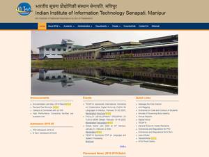 Indian Institute of Information Technology, Manipur's Website Screenshot