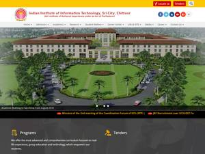 Indian Institute of Information Technology, Sri City's Website Screenshot