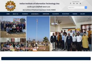 Indian Institute of Information Technology, Una's Website Screenshot