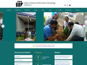 Indian Institute of Information Technology, Vadodara's Website Screenshot
