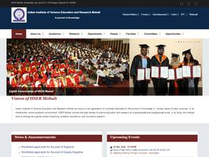 Indian Institute of Science Education and Research, Mohali Screenshot
