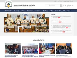 Indian Institute of Teacher Education's Website Screenshot