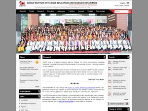 Indian Institute of Science Education and Research, Pune's Website Screenshot