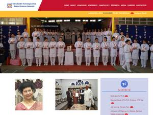 Indira Gandhi Technological and Medical Sciences University's Website Screenshot