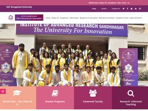 Institute of Advanced Research's Website Screenshot