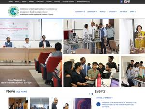 Institute of Infrastructure, Technology, Research and Management's Website Screenshot
