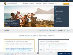 Munich Business School Screenshot