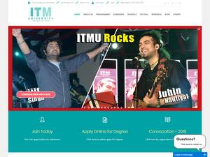 ITM University Gwalior's Website Screenshot