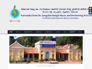 KSGH Music and Performing Arts University's Website Screenshot