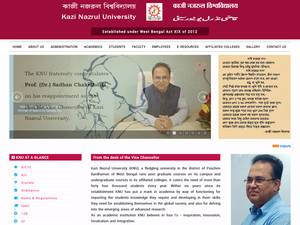 Kazi Nazrul University's Website Screenshot