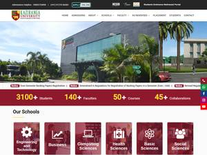 Kaziranga University's Website Screenshot