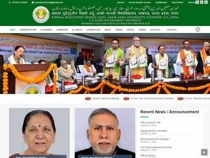 Khwaja Moinuddin Chishti Urdu, Arabi-Farsi University's Website Screenshot