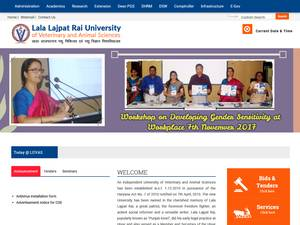 Lala Lajpat Rai University of Veterinary and Animal Sciences's Website Screenshot