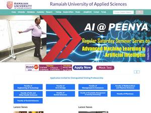 M.S. Ramaiah University of Applied Sciences's Website Screenshot