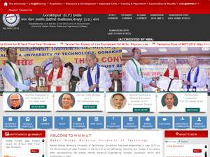 Madan Mohan Malaviya University of Technology's Website Screenshot