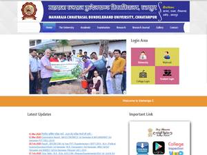 Maharaja Chhatrasal Bundelkhand University's Website Screenshot