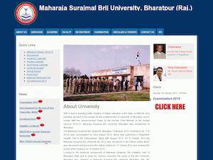 Maharaja Surajmal Brij University's Website Screenshot