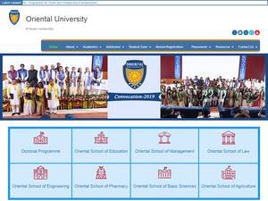 Oriental University's Website Screenshot