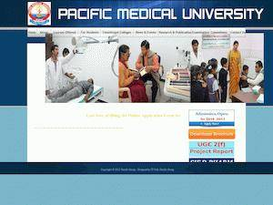Pacific Medical University's Website Screenshot