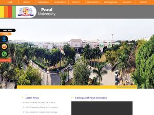 Parul University's Website Screenshot