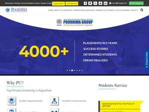 Poornima University Screenshot