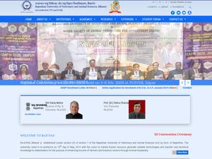 Rajasthan University of Veterinary and Animal Sciences's Website Screenshot