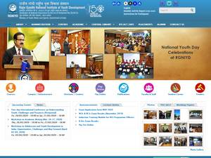 Rajiv Gandhi National Institute of Youth Development's Website Screenshot