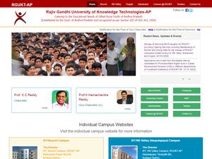 Rajiv Gandhi University of Knowledge Technologies's Website Screenshot