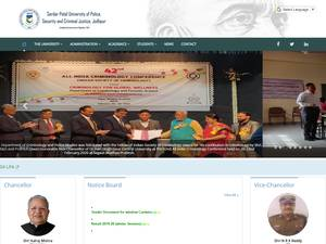 Sardar Patel University of Police, Security and Criminal Justice's Website Screenshot