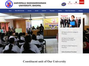 Sarvepalli Radhakrishnan University's Website Screenshot
